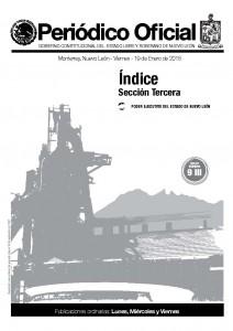 Periódico Oficial Nuevo León tapa 19 enero 2018